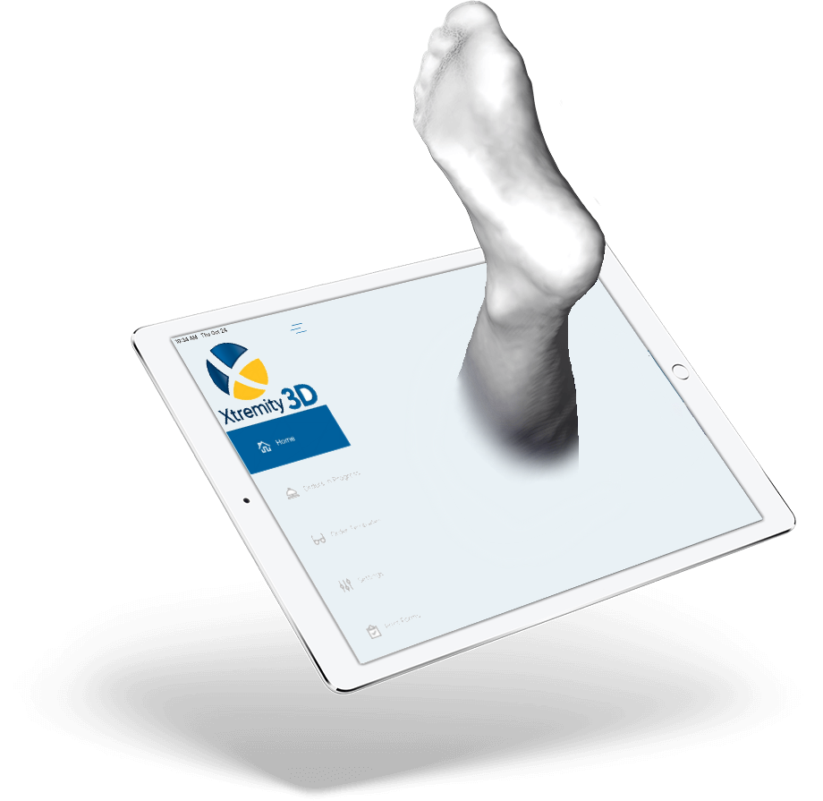 3D Scan on iPhone of Foot PAL Health Technologies
